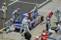 04/20/08 Mexico City .Eric Darnell pits his Ford Fusion during the Corona 200. Darnell finished 26th after contact with another car.