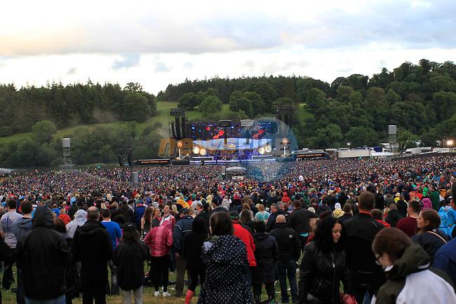 Bon Jovi on stage<br /> during the Bon Jovi Concert at Slane Castle  15/6/13<br /> Picture:  Thos Caffrey / www.newsfile.ie