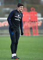 Harry Maguire of England during the England National Team Training ahead of the international friendly match with Italy at Tottenham Hotspur Training Ground, Hotspur Way, England on 26 March 2018. Photo by Vince  Mignott.