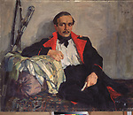 Portrait of the poet Mikhail Lermontov (1814-1841)<br /> Artist:Ulyanov, Nikolai Pavlovich(1875-1949)<br /> Museum:State Central Literary Museum, Moscow<br /> Method:Oil on canvas<br /> Created:1941<br /> School:Russia<br /> Trend in art:Modern