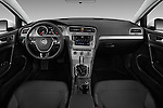 Stock photo of straight dashboard view of 2017 Volkswagen Golf S 5 Door Hatchback Dashboard