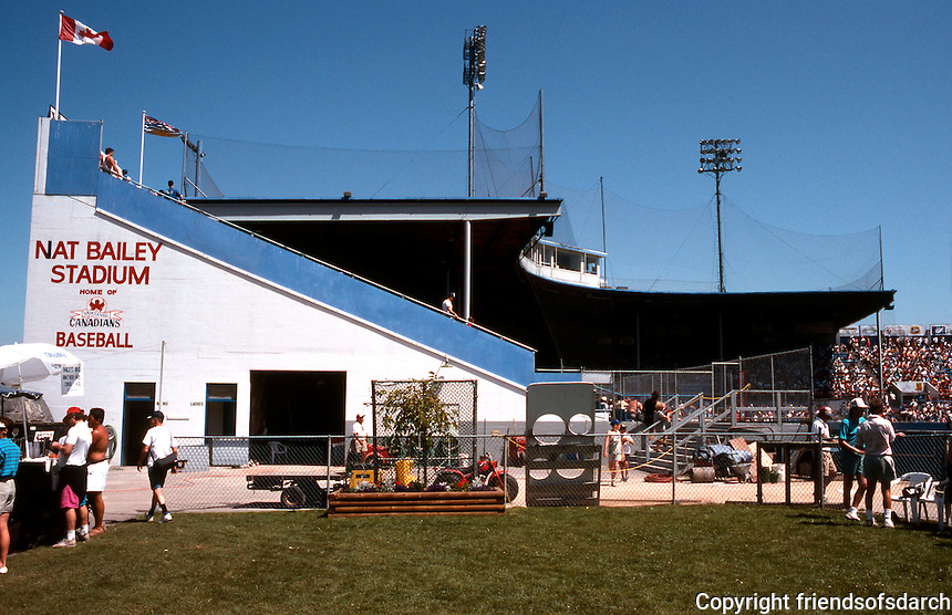 Ballparks: Nat Bailey Stadium, Vancouver, B.C. BBQ and Restaurant area, right field terrace.