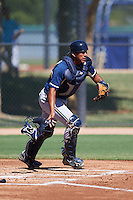 Milwaukee Brewers Jose Sibrian (16) during an instructional league game against the Los Angeles Dodgers on October 13, 2015 at Cameblack Ranch in Glendale, Arizona.  (Mike Janes/Four Seam Images)