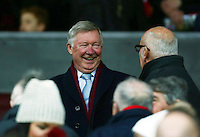 Sir Alex Ferguson of Manchester United looks on from the stand during the Barclays Premier League match between Manchester United and Swansea City played at Old Trafford, Manchester on January 2nd 2016
