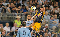 Kansas City, KS - Wednesday September 20, 2017: Diego Rubio, Alex Muyl during the 2017 U.S. Open Cup Final Championship game between Sporting Kansas City and the New York Red Bulls at Children's Mercy Park.