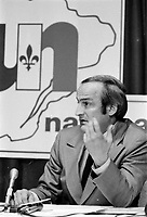 le chef de l'Union nationale Gabriel Loubier , 18 mai 1973<br /> <br /> PHOTO :  Agence Quebec Presse - Alain Renaud