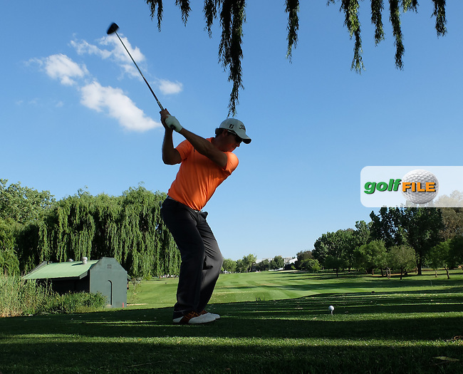 Oliver Bekker (RSA) drives from the 18th during the practice day at the SA Open Championship 2013 at the Glendower Golf Club, Johannesburg, South Africa. Picture:  David Lloyd / www.golffile.ie