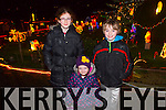 Pictured at the official turning on of Tony Noonan's charity christmas lights by Santa on Friday night in Templeglantine was L-R: Amy O'Sullivan, Grace Mullane and Evan O'Sullivan. Strand.