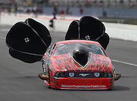 Mar 13, 2015; Gainesville, FL, USA; NHRA pro mod driver Bill Glidden during qualifying for the Gatornationals at Auto Plus Raceway at Gainesville. Mandatory Credit: Mark J. Rebilas-