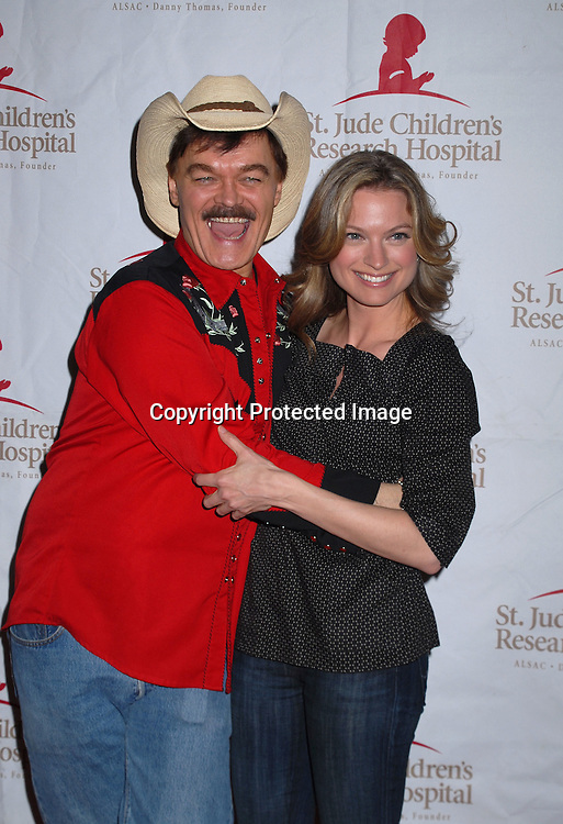 """Randy Jones, of The Village People and Nicole Forester of Guiding Light..arriving at The St Jude Children's Research Hospital's Design Cares """" An Evening of Enchantment"""" Fashion Show on February 7, 2007 at The Puck Building in New York...Robin Platzer, Twin Images"""
