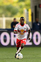Bradley Wright-Phillips (99) of the New York Red Bulls. The New York Red Bulls defeated FC Dallas 1-0 during a Major League Soccer (MLS) match at Red Bull Arena in Harrison, NJ, on September 22, 2013.