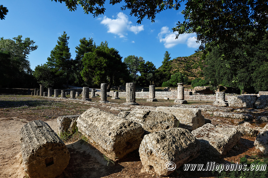 Gymnasion monument (2nd cent. B.C.) in Olympia, Greece