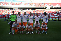 Houston starting lineup in the Real Salt Lake v Houston 0-0 draw win at Rio Tinto Stadium in Sandy, Utah on August 15, 2009
