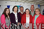 Meegan Enright(Tralee), Mary Collins(Ballylongford), Donal and Kathlenn Moloney(Lyreacrompane) and Joe and Eilleen Enright(Lyreacrompane) getting ready for a night of stories and craic in the Marquee last Saturday night for the annual Dan Paddy Andy Festival in Lyreacrompane