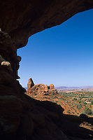 View of Turret Arch-Arches National Park, Utah