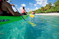 Kayakers with VI Eco Tours at Honeymoon Beach.St. John.US Virgin Islands