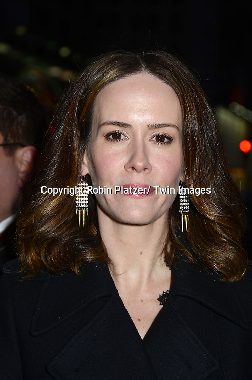 Sarah Paulson attends Rogers +  Hammerstein's Cinderella Broadway Opening night on March 3, 2013 at the Broadway Theatre in New York City.