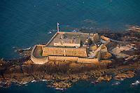 Europe/France/Bretagne/35/Ille et Vilaine/Saint-Malo: Vue aérienne du fort National