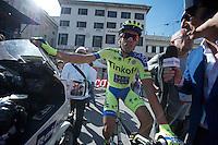 Alberto Contador (ESP/Tinkoff-Saxo) post-race<br /> <br /> 2015 Giro<br /> stage 2: Albenga - Genova (177km)