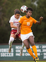 STANFORD, CA - November 23, 2018: Alana Cook at Laird Q. Cagan Stadium. The top seeded Stanford Cardinal defeated the Tennessee Volunteers 2-0 in the Quarterfinal of the NCAA tournament.
