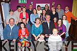 Michael Carey Cromane (seated second from right) celebrates his 70th birthday with family and friends in the Fishery bar Killorglin on Friday night......   Copyright Kerry's Eye 2008