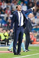 Athletic Club coach Jose Angel Ziganda during La Liga match between Real Madrid and Athletic Club at Santiago Bernabeu Stadium in Madrid. April 19, 2017. (ALTERPHOTOS/Borja B.Hojas) /NortePhoto.com