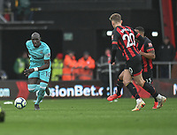 Newcastle United's Mohamed Diame (left)  <br /> <br /> Photographer David Horton/CameraSport<br /> <br /> The Premier League - Bournemouth v Newcastle United - Saturday 16th March 2019 - Vitality Stadium - Bournemouth<br /> <br /> World Copyright © 2019 CameraSport. All rights reserved. 43 Linden Ave. Countesthorpe. Leicester. England. LE8 5PG - Tel: +44 (0) 116 277 4147 - admin@camerasport.com - www.camerasport.com