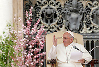 Papa Francesco tiene l'udienza generale del mercoledi' in Piazza San Pietro, Citta' del Vaticano, 30 marzo 2016.<br /> Pope Francis attends his weekly general audience in St. Peter's Square at the Vatican, 30 March 2016.<br /> UPDATE IMAGES PRESS/Isabella Bonotto<br /> <br /> STRICTLY ONLY FOR EDITORIAL USE<br /> *** ITALY AND GERMANY OUT ***