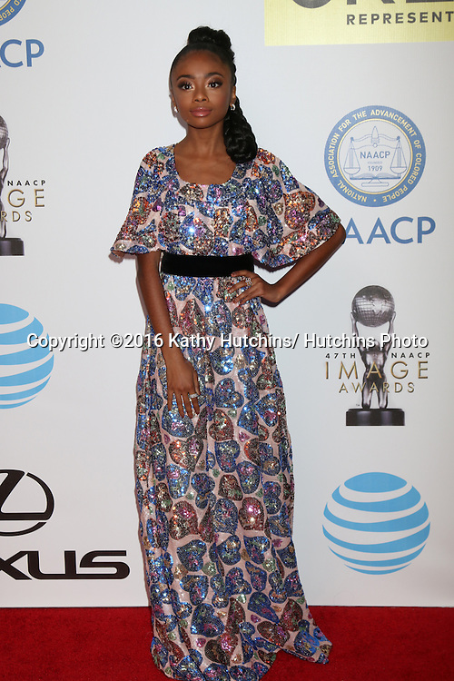 LOS ANGELES - FEB 5:  Skai Jackson at the 47TH NAACP Image Awards Arrivals at the Pasadena Civic Auditorium on February 5, 2016 in Pasadena, CA