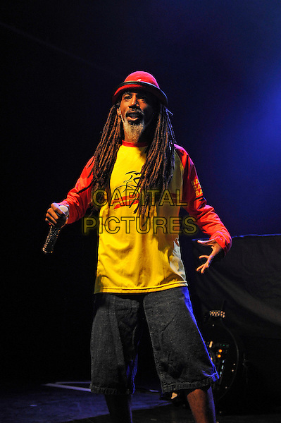 LONDON, ENGLAND - SEPTEMBER 10: Akil (Dante Givens) of 'Jurassic 5' performing at The Forum on September 10, 2015 in London, England.<br /> CAP/MAR<br /> &copy; Martin Harris/Capital Pictures