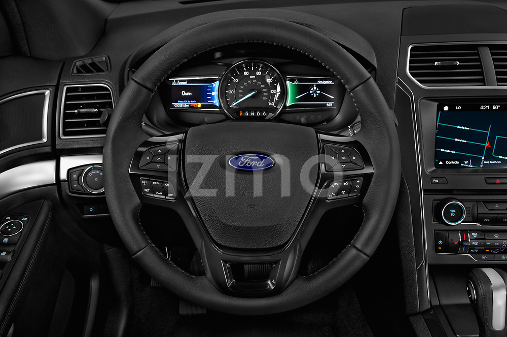 Car pictures of steering wheel view of a 2018 Ford Explorer XLT 5 Door SUV