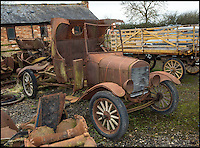 BNPS.co.uk (01202 558833)<br /> Pic: PhilYeomans/BNPS<br /> <br /> Current stock awaiting restoration.<br /> <br /> Garage that time forgot...<br /> <br /> Business is booming at Neil Tuckets time warp garage in the heart of Buckinghamshire - Where you can by any car&hellip;as long as its a Model T Ford.<br /> <br /> Despite his newest models being nearly 90 years old, Neil struggles to keep up with demand with customers snapping up one a week, despite their rudimentary levels of comfort and trim.<br /> <br /> Neil sources his spares from all over the globe and carefully puts the machines back together again.<br /> <br /> 'There like a giant meccano set really, and so beautifully simple and reliable they just won't let you down...You also don't require road tax or and MOT!'