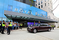 HM Queen Elizabeth II officially opened the new Royal Papworth Hospital on the Cambridge Biomedical Campus, meeting with staff and patients during her visit, as well as seeing some of the facilities at the heart and lung hospital. Cambridge, UK on July 9th 2019<br /> <br /> Photo by Keith Mayhew