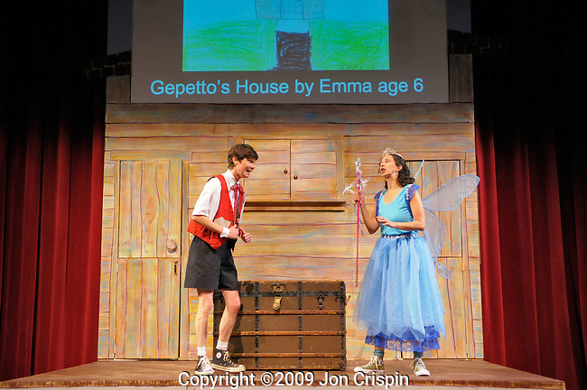 "Paint Box Theatre ""Pinocchio..© 2009 JON CRISPIN .Please Credit   Jon Crispin.Jon Crispin   PO Box 958   Amherst, MA 01004.413 256 6453.ALL RIGHTS RESERVED."