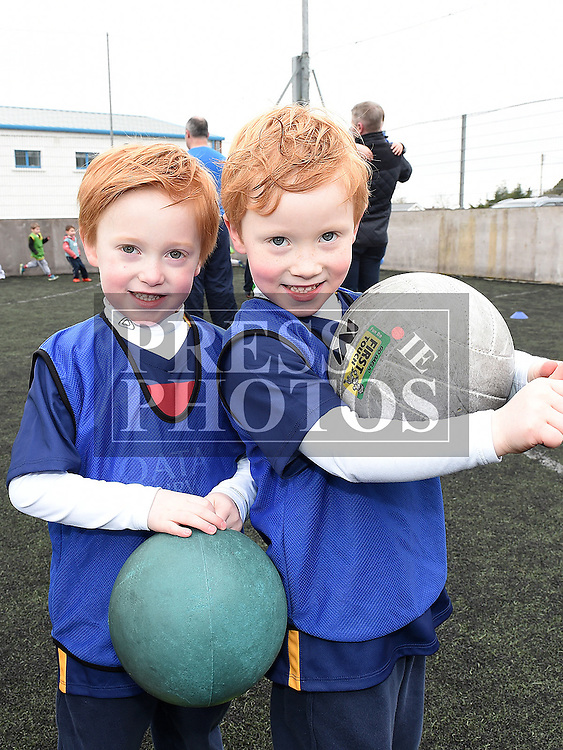Loughlin and Logan McCartney who took part in the St Mary's GAA Club Academy for 4-7 year olds. Photo:Colin Bell/pressphotos.ie
