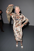 Dame Vivienne Westwood<br /> front row at the Matty Bovan London Fashion Week SS18 catwalk show, London<br /> <br /> ©Ash Knotek  D3431  14/09/2018