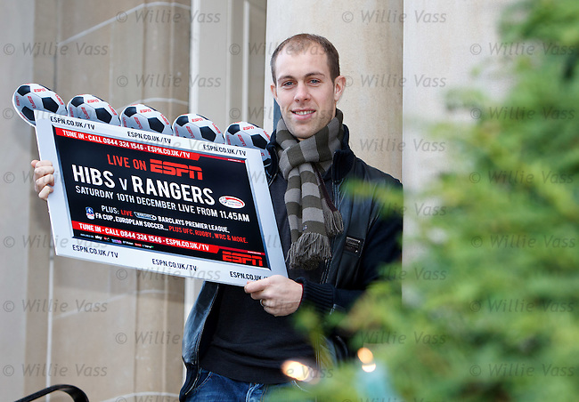 Steven Whittaker at Hotel Du Vin, One Devonshire Gardens to promote the Hibs v Rangers match on ESPN
