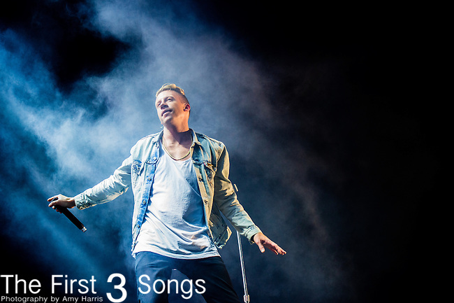 Macklemore performs at the Outside Lands Music & Art Festival at Golden Gate Park in San Francisco, California.