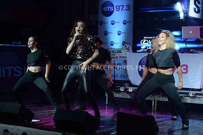 www.acepixs.com<br /> <br /> September 15 2016, Ft Lauderdale<br /> <br /> Hailee Steinfeld performs during the Hits 97.3 Sessions at Revolution Live on September 15, 2016 in Fort Lauderdale, Florida<br /> <br /> By Line: Solar/ACE Pictures<br /> <br /> ACE Pictures Inc<br /> Tel: 6467670430<br /> Email: info@acepixs.com<br /> www.acepixs.com