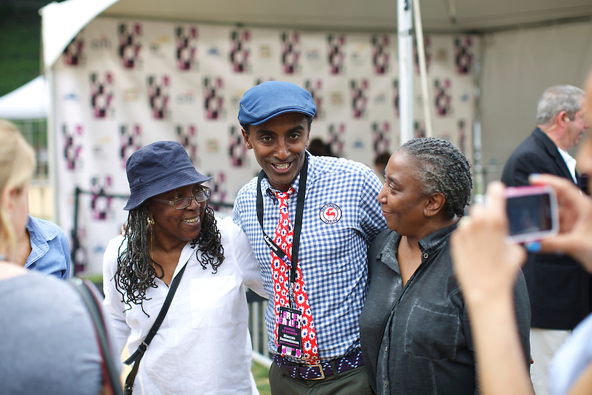 Chef Marcus Samuelsson at Harlem Eats!<br /> <br /> &copy; Clay Williams / claywilliamsphoto.com