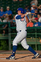 Rebel Ridling of the Daytona Cubs during a game vs. the Brevard County Manatees May 25 2010 at Jackie Robinson Ballpark in Daytona Beach, Florida. Daytona won the game against Brevard by the score of 5-3.  Photo By Scott Jontes/Four Seam Images