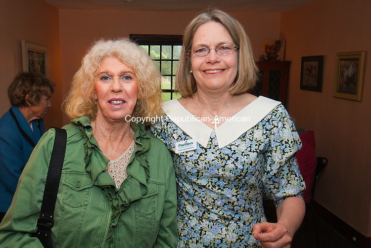 WOODBURY CT-050717JS01- Bonny Bradley of Roxbury, left,  with past president Anne Westerman at the Flanders Nature Center's 1920's themed Farm Tea held at the Flanders Nature Center in Woodbury. <br /> Jim Shannon Republican-American