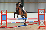Class 9. 95cm. Unaffiliated showjumping. Brook Farm Training Centre. Essex. 12/02/2017. MANDATORY Credit Ellen Szalai/Sportinpictures - NO UNAUTHORISED USE - 07837 394578