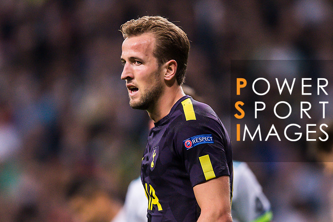 Harry Kane of Tottenham Hotspur FC reacts during the UEFA Champions League 2017-18 match between Real Madrid and Tottenham Hotspur FC at Estadio Santiago Bernabeu on 17 October 2017 in Madrid, Spain. Photo by Diego Gonzalez / Power Sport Images