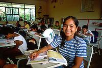 School girl age 13 in class in Puerto Vallarta , Mexico