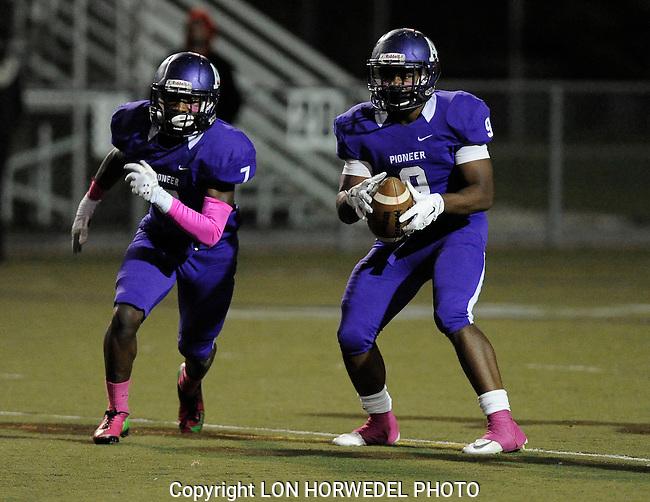 Pioneer High School vs Huron High School football, senior night and homecoming at Pioneer High School, Friday, October 18, 2014.