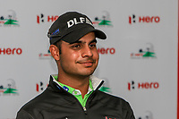 Shubhankar Sharma (IND) during the preview of the Hero Indian Open at the DLF Golf and Country Club on Wednesday 7th March 2018.<br /> Picture:  Thos Caffrey / www.golffile.ie<br /> <br /> All photo usage must carry mandatory copyright credit (&copy; Golffile | Thos Caffrey)