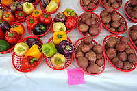 NWA Democrat-Gazette/MICHAEL WOODS &bull; @NWAMICHAELW<br /> A variety of vegetables for sale  at the Rogers Farmers Market Wednesday September 30, 2015.  Main Street Rogers announced it will take over ownership of the Rogers Farmers Market starting next year.  Several current  vendors at the Rogers Farmers Market expressed their concerns after the announcement and are considering moving their market to a new location after the takeover.