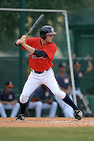 Atlanta Braves outfielder Connor Lien (77) during an Instructional League game against the Houston Astros on September 22, 2014 at the ESPN Wide World of Sports Complex in Kissimmee, Florida.  (Mike Janes/Four Seam Images)