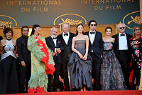 Gregoire Melin, Oscar Jaenada, Sergi Lopez, Tony Grisoni, Mariela Besuievsky, Jordi Molla, Rossy de Palma, Terry Gilliam, Stellan Skarsgard, Olga Kurylenko, Adam Driver, Joana Ribeiro, Jonathan Pryce, Alessandra Lo Savio &amp; Amy Gilliam at the closing gala screening for &quot;The Man Who Killed Don Quixote&quot; at the 71st Festival de Cannes, Cannes, France 19 May 2018<br /> Picture: Paul Smith/Featureflash/SilverHub 0208 004 5359 sales@silverhubmedia.com